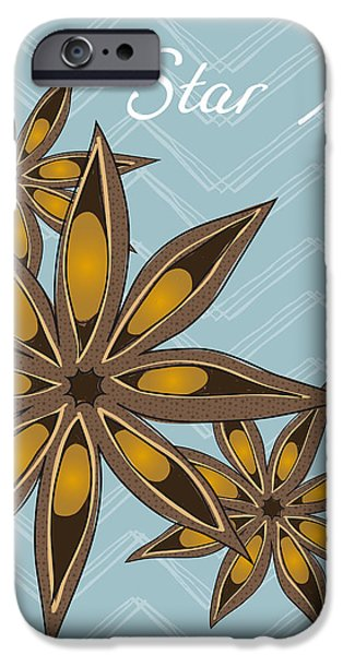 Star Anise Art iPhone Case by Christy Beckwith