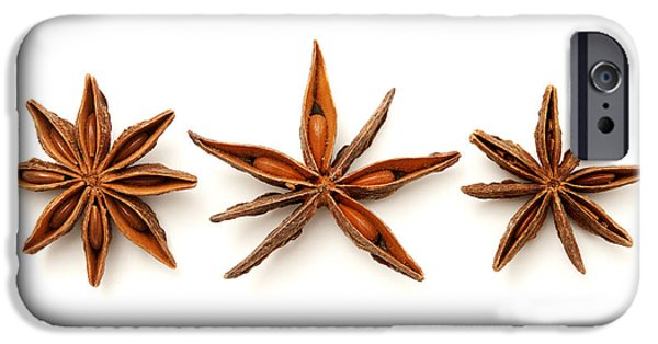 Cut-outs iPhone Cases - Star anise fruits iPhone Case by Fabrizio Troiani