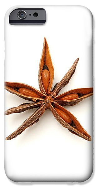 Star anise fruits iPhone Case by Fabrizio Troiani