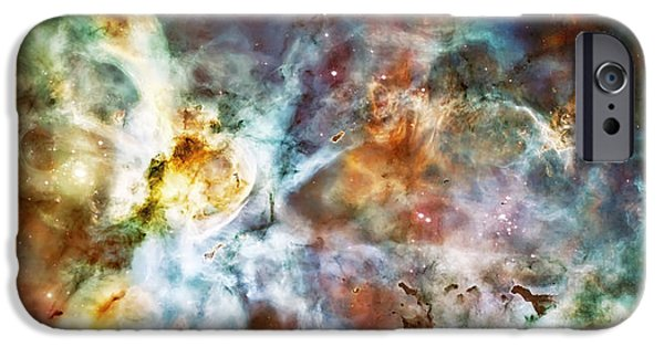 The Heavens iPhone Cases - Star Birth in the Carina Nebula  iPhone Case by The  Vault - Jennifer Rondinelli Reilly