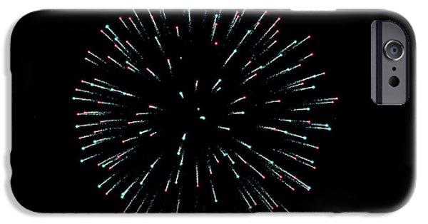 Fireworks iPhone Cases - Star Burst Firework iPhone Case by Teresa Blanton
