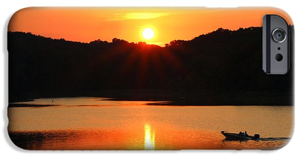 Southern Indiana iPhone Cases - Star Burst Sunset iPhone Case by Lorna Rogers Photography