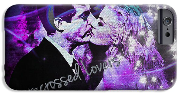 Recently Sold -  - 1950s Movies iPhone Cases - Star-crossed Lovers iPhone Case by Absinthe Art By Michelle LeAnn Scott