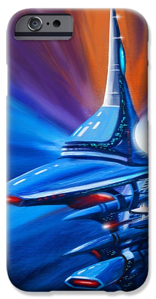 Star System Paintings iPhone Cases - Star Drive iPhone Case by James Christopher Hill
