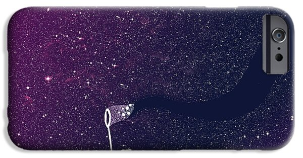 Budi Satria Kwan iPhone Cases - Star field purple iPhone Case by Budi Satria Kwan
