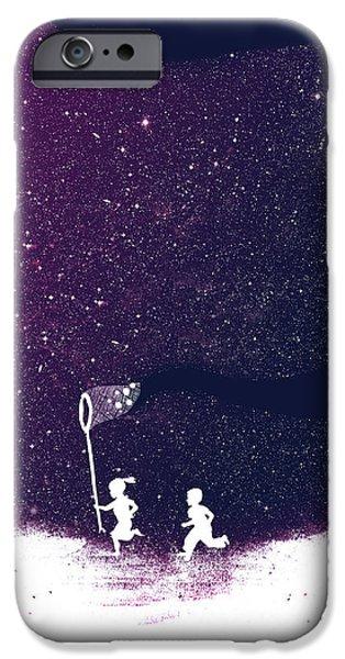 Star field purple iPhone Case by Budi Satria Kwan