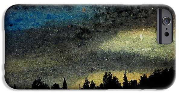 Stellar Mixed Media iPhone Cases - Star Filled Sky iPhone Case by R Kyllo