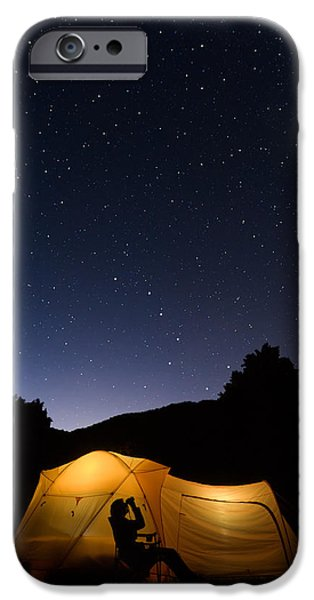United iPhone Cases - Star gazing under the Big Dipper iPhone Case by Kevin Adams
