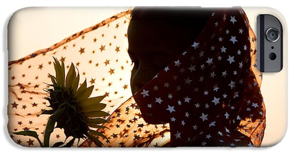 Shawl iPhone Cases - Star Girl  iPhone Case by Tim Gainey