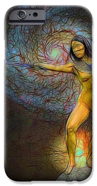 Warrior Goddess Photographs iPhone Cases - Star Goddess iPhone Case by Jon Volden