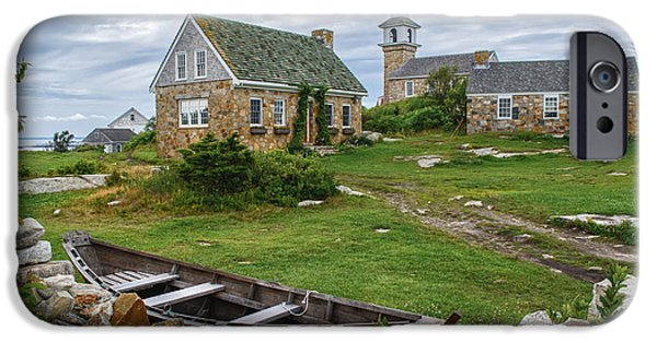 New England Village iPhone Cases - Star Island Dory iPhone Case by Scott Thorp