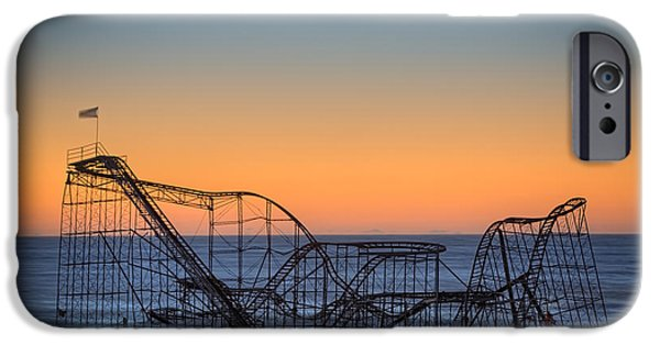 Jet Star iPhone Cases - Star Jet Roller Coaster Ride  iPhone Case by Michael Ver Sprill