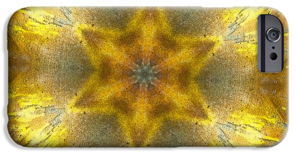 Repetition iPhone Cases - Star Kaleidoscope iPhone Case by Wim Lanclus