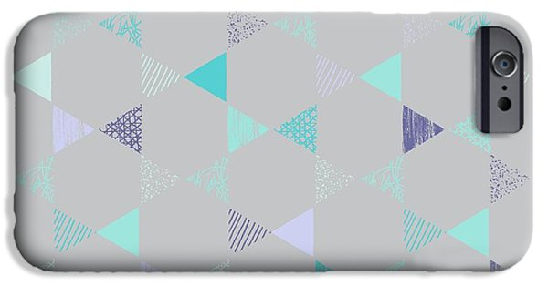 Patterned Paintings iPhone Cases - Star iPhone Case by Laurence Lavallee