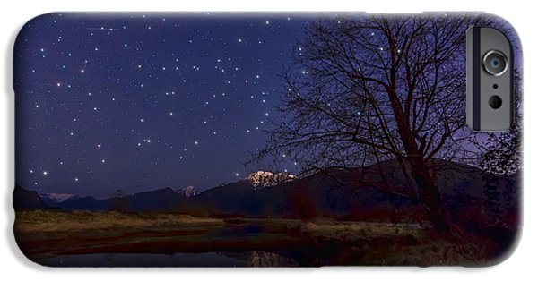 Constellations iPhone Cases - Star Light Star Bright iPhone Case by James Wheeler