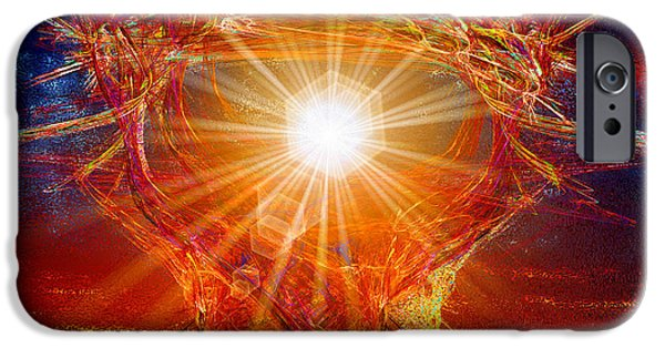 Abstract Digital Art iPhone Cases - Star Light Star Bright iPhone Case by Michael Durst