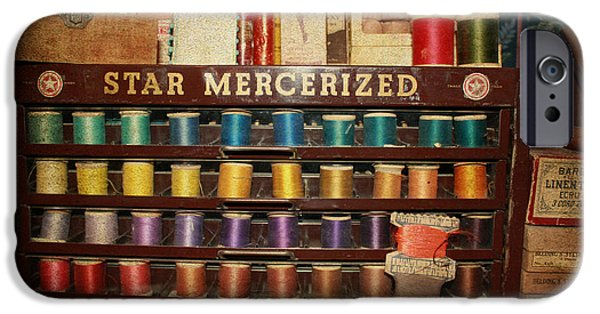 Disorder iPhone Cases - Star Mercerized Thread Display iPhone Case by Janice Rae Pariza