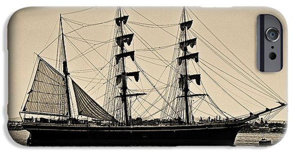 Windjammer iPhone Cases - Star of India iPhone Case by Cheryl Young