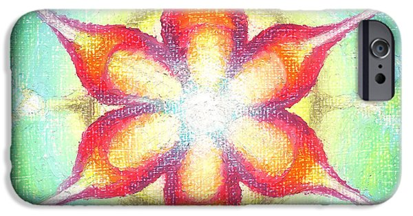 Flower Of Life Pastels iPhone Cases - Star of Metatron iPhone Case by Michelle Bien
