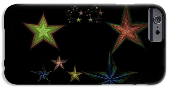 Constellations iPhone Cases - Star of Stars 01 iPhone Case by Sora Neva