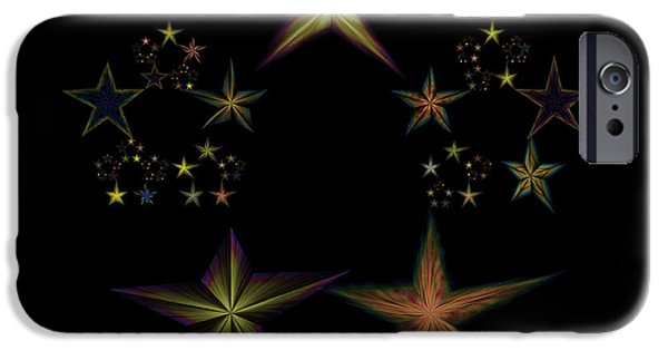 Constellations iPhone Cases - Star of Stars 03 iPhone Case by Sora Neva