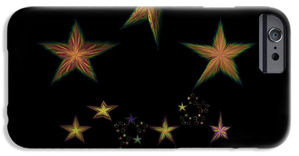 Constellations iPhone Cases - Star of Stars 10 iPhone Case by Sora Neva