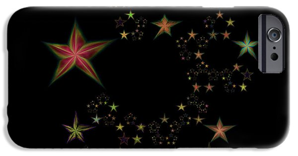 Constellations iPhone Cases - Star of Stars 11 iPhone Case by Sora Neva