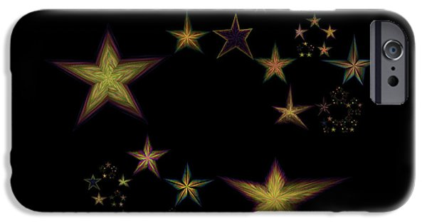 Constellations iPhone Cases - Star of Stars 15 iPhone Case by Sora Neva