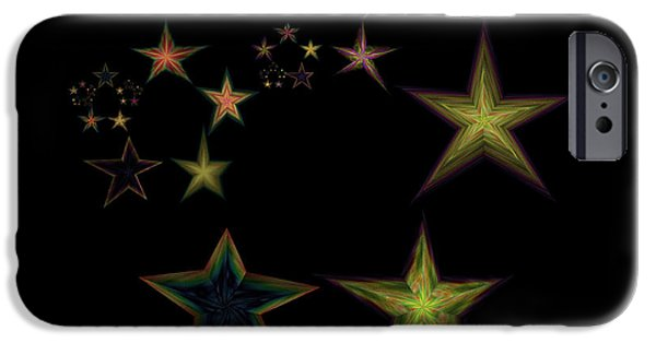 Abstractions iPhone Cases - Star of Stars 16 iPhone Case by Sora Neva