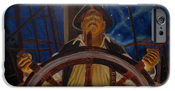Pirate Ship iPhone Cases - Star Pirates iPhone Case by John Paul Blanchette
