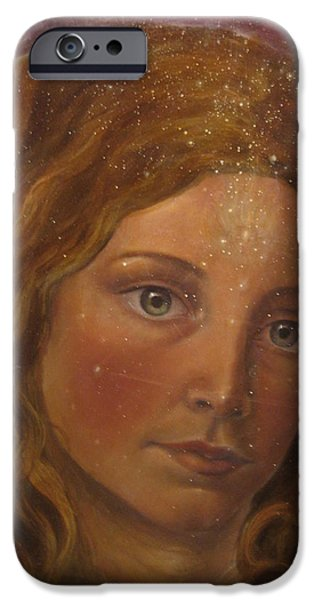 Spiritual Portrait Of Woman iPhone Cases - Star sister iPhone Case by Vera Atlantia
