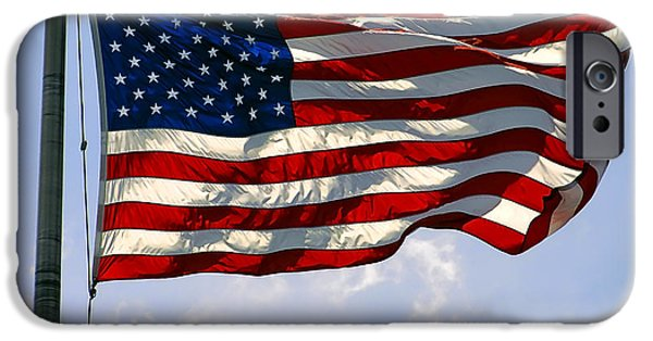 Old Glory iPhone Cases - STAR SPANGLED BANNER of the UNITED STATES iPhone Case by Daniel Hagerman
