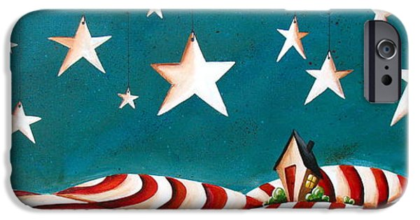 Stripes iPhone Cases - Star Spangled iPhone Case by Cindy Thornton