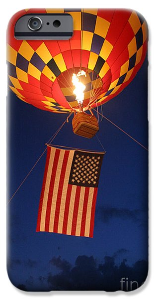 Old Glory iPhone Cases - Star Spangled Glow iPhone Case by Paul Anderson