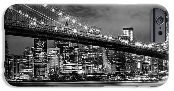 Financial District iPhone Cases - Star Spangled Skyline 2 iPhone Case by Az Jackson