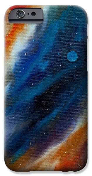 Black Hole Paintings iPhone Cases - Star System 2034 iPhone Case by James Christopher Hill