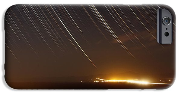 East Village iPhone Cases - Star Trails Above A Village iPhone Case by Amin Jamshidi