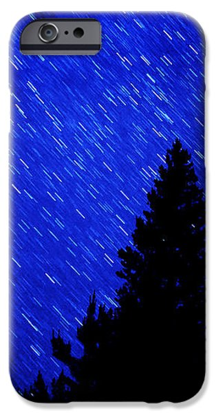 Star Trails in Night Sky iPhone Case by Lane Erickson