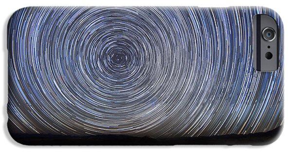 Nation Pyrography iPhone Cases - Star Trails iPhone Case by Katrina Brown