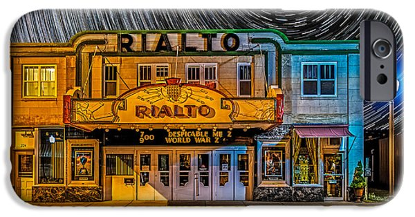 Inexpensive iPhone Cases - Star trails over the Rialto iPhone Case by Paul Freidlund