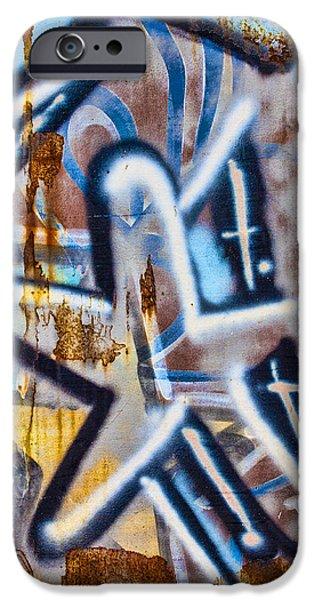 Urban Photographs iPhone Cases - Star Train Graffiti iPhone Case by Carol Leigh