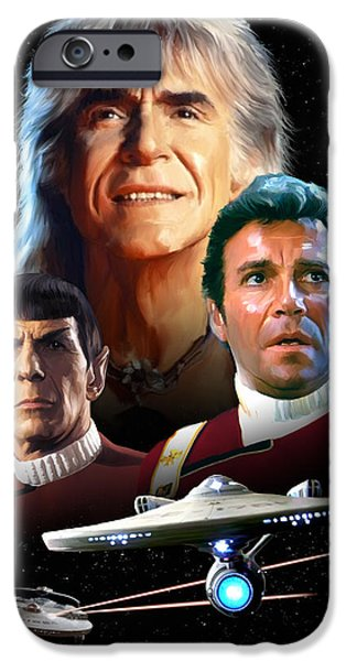 Enterprise iPhone Cases - Star Trek II - The Wrath of Khan iPhone Case by Paul Tagliamonte