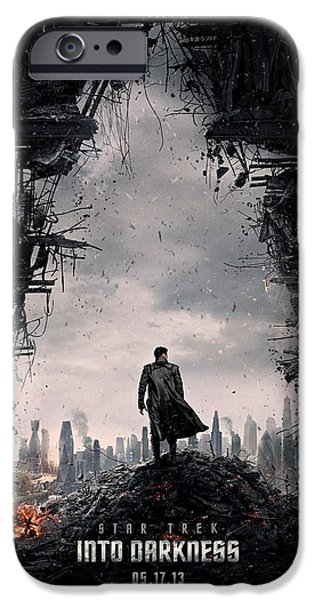 Star Trek into Darkness  iPhone Case by Movie Poster Prints