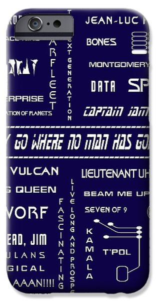 Star Trek Remembered in Navy Blue iPhone Case by Nomad Art And  Design