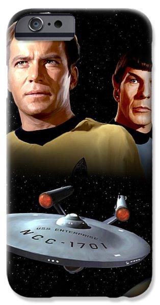 Enterprise iPhone Cases - Star Trek - The Original Series iPhone Case by Paul Tagliamonte
