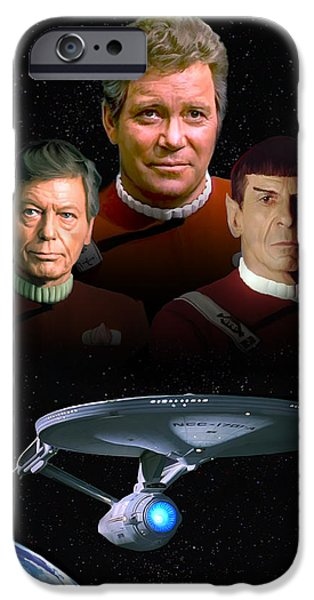 Enterprise iPhone Cases - Star Trek - The Undiscovered Country iPhone Case by Paul Tagliamonte