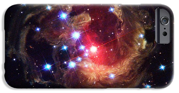 Luminous Body iPhone Cases - Star V838 Monocerotis iPhone Case by Science Source