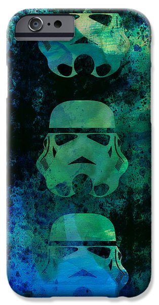 Tv Show iPhone Cases - Star Warriors Watercolor 1 iPhone Case by Naxart Studio