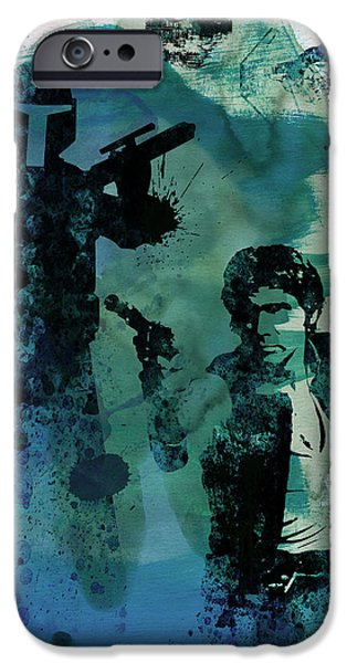 Tv Show iPhone Cases - Star Warriors Watercolor 2 iPhone Case by Naxart Studio