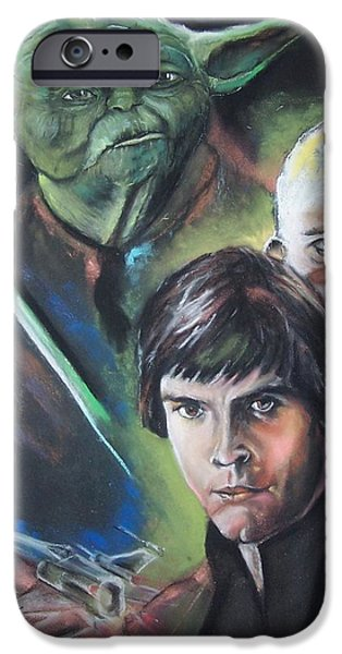 War Pastels iPhone Cases - Star Wars Medley iPhone Case by Peter Suhocke